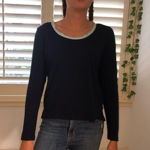 GAP long sleeve with detailed neckline